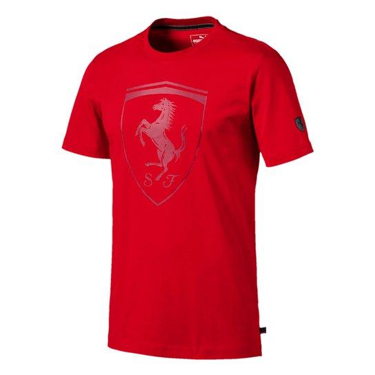 Camiseta Puma Ferrari Big Shield Masculina - Vermelho