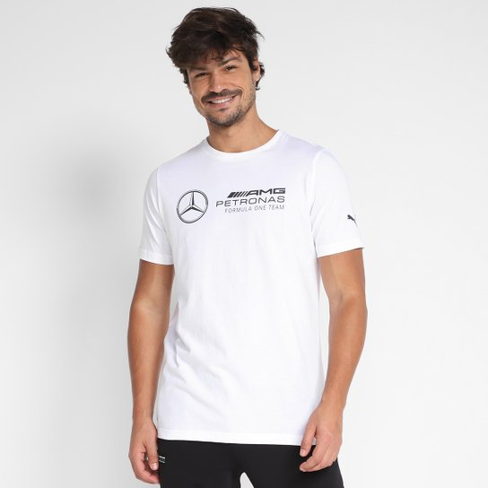 Camiseta Puma MAPF1 Logo Masculina - Branco