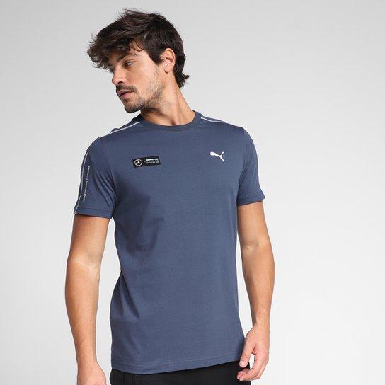 Camiseta Puma MAPF1 T7 Masculina - Azul Escuro