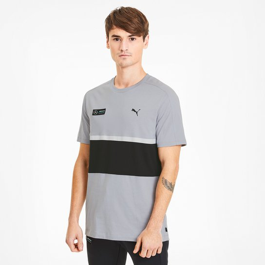 Camiseta Puma MAPM T7 Masculina - Cinza