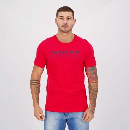 Camiseta Puma RBR Logo Masculina - Vermelho
