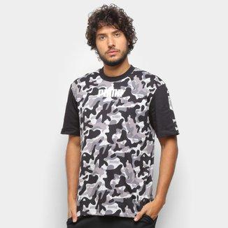 Camiseta Puma Rebel Camuflada Masculina