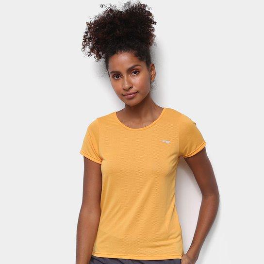 Camiseta Rainha Básica Dry Sport Feminina - Dourado