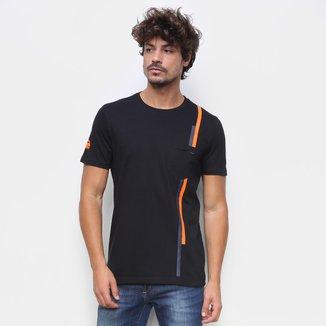 Camiseta RB111 Lap Rubens Barrichello Pocket Masculina