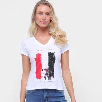 Camiseta São Paulo Bi Mundial Retrô Mania Feminina