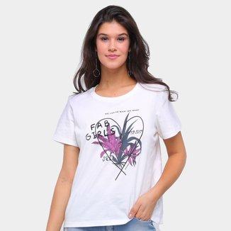 Camiseta Sommer Básica Fab Girls Feminina