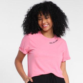 Camiseta T-Shirt All Is Love Manga Curta Feminina
