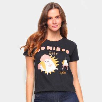 Camiseta T-Shirt Cantão Babylook Domingo Feminina
