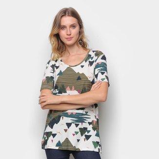 Camiseta T-Shirt Cantão Boyfriend Montanha Feminina