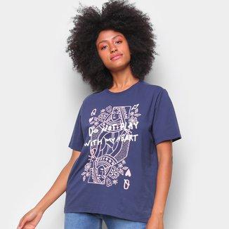 Camiseta T-Shirt Cantão Classic Heart Feminina