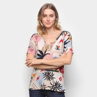 Camiseta T-Shirt Cantão Classic Recortes Feminina