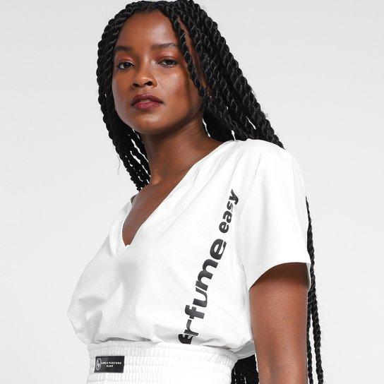 Camiseta T-Shirt Lança Perfume Easy Feminina - Off White