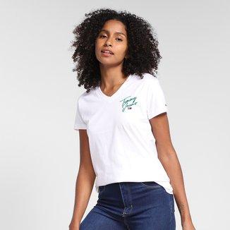 Camiseta Tommy Jeans Básica Feminina