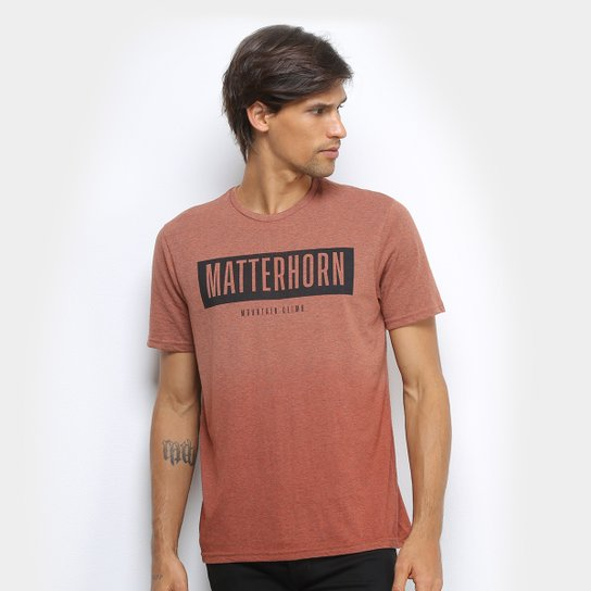 Camiseta Treebo Matterhorn Masculina - Laranja