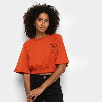 Camiseta Triton Cropped Feminina