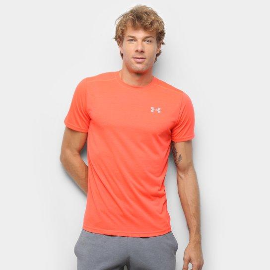 Camiseta Under Armour Streaker 1.0 Masculina - Vermelho+Preto