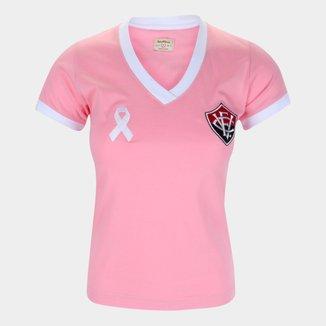 Camiseta Vitória Outubro Rosa Retrô Mania Feminina