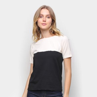 Camiseta Volare Básica Bicolor Feminina