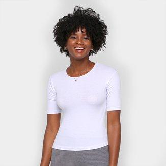 Camiseta Volare Canelada Básica Feminina