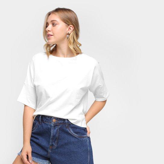 Camiseta Volare Oversized Lisa Feminina - Off White