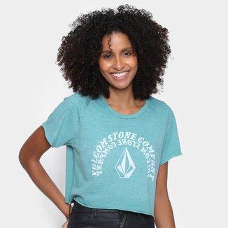 Camiseta Volcom Cropped Ringer Feminina