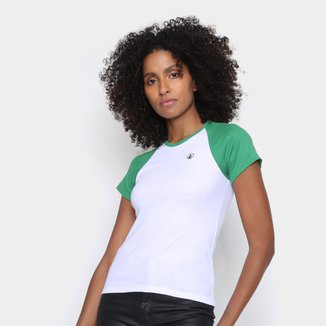 Camiseta Volcom Raglan Lived In Lounge Feminina