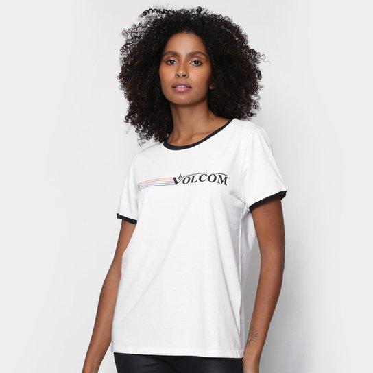Camiseta Volcom Truly Feminina - Off White