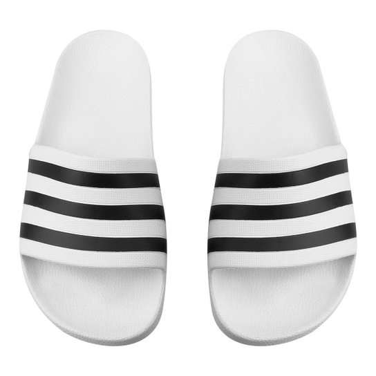 Chinelo Adidas Adilette - Branco+Preto