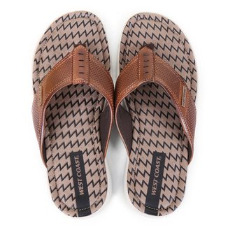 Chinelo Couro West Coast New Malta Masculino