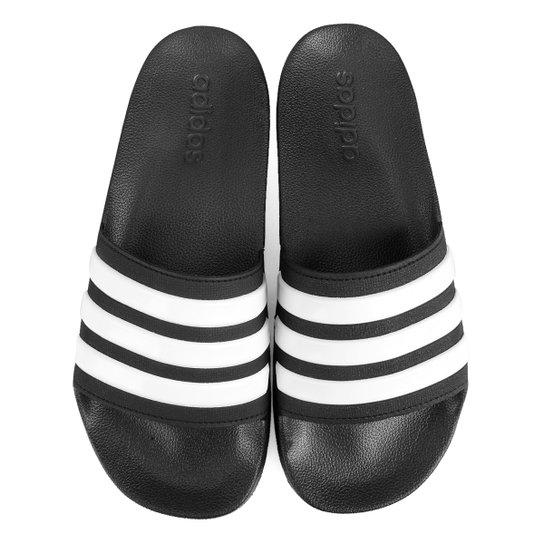 Chinelo Slide Adidas Adilette Cloudfoam Masculino - Preto+Branco
