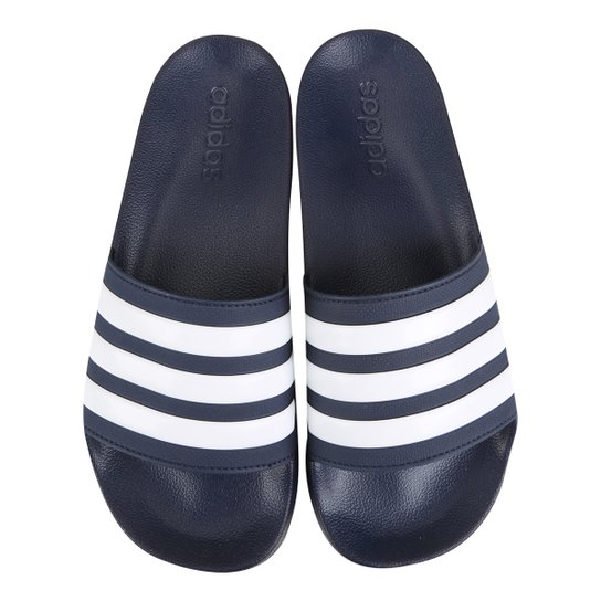Chinelo Slide Adidas Adilette Cloudfoam Masculino - Marinho+Branco