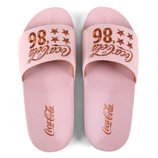 Chinelo Slide Coca-Cola Stars 86 Feminino