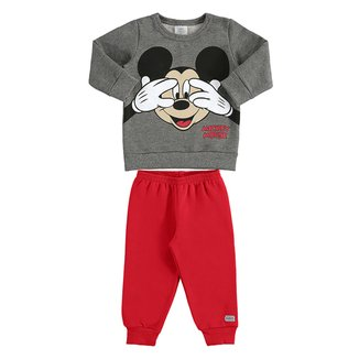 Conjunto Bebê Moletom Disney By Marlan Mickey Mouse Masculino