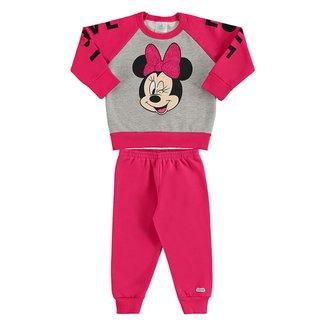 Conjunto Bebê Moletom Disney By Marlan Minnie Feminino