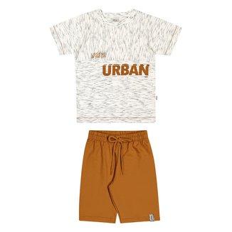 Conjunto Infantil Elian Fuzzi+ Bermuda Moletinho Urban Masculino