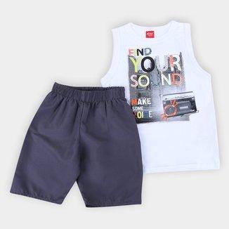 Conjunto Infantil Elian Regata+Bermuda Tactel Find Your Sond Masculino