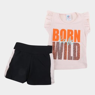 Conjunto Infantil Mia Kids Animal Feminino