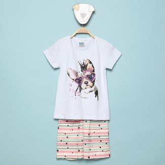 Conjunto Infantil Mia Kids Bulldog Feminino