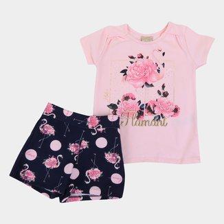 Conjunto Infantil Milon Flamingos Feminino