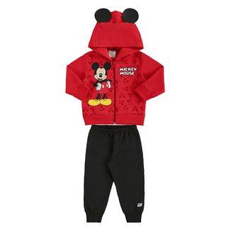 Conjunto Infantil Moletom Disney By Marlan Mickey Capuz Masculino