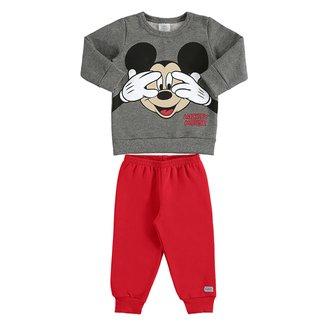 Conjunto Infantil Moletom Disney By Marlan Mickey Mouse Masculino