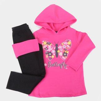 Conjunto Moletom Infantil Pipa Butterfly Feminino