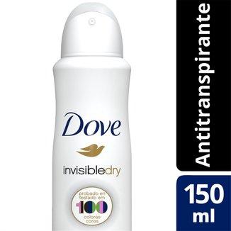 Desodorante Antitranspirante Dove Invisible Dry Aerosol 150ml