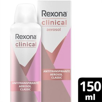 Desodorantes Antitranspirante Rexona Clinical Aerosol Classic 150ml