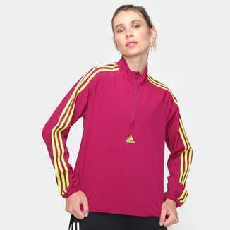 Jaqueta Adidas 3 Listras Zipper Feminina