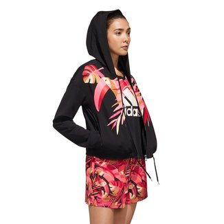 Jaqueta Adidas C/Capuz Farm Feminina