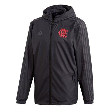 Jaqueta Corta Vento Flamengo Adidas Capuz Masculina