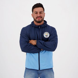 Jaqueta Corta-Vento Manchester City Capuz Masculina
