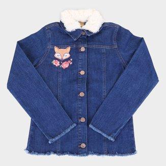 Jaqueta Jeans Infantil Up Baby Pelo Feminina