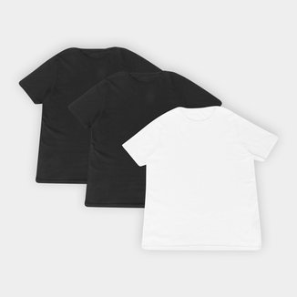Kit 3 Camisetas Básicos Masculina